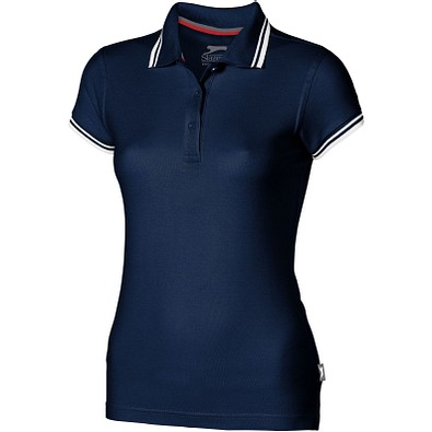 Slazenger™ Damen Poloshirt Deuce mit weißem Rand, dunkelblau, M