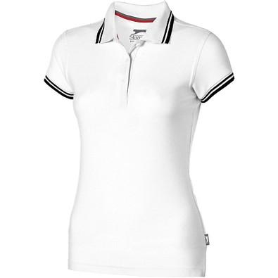 Slazenger™ Damen Poloshirt Deuce mit weißem Rand, weiß, M