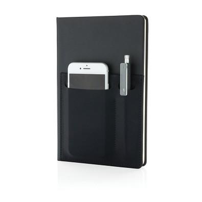 XD COLLECTION Notizbuch Deluxe DIN A5 mit Fächern, schwarz