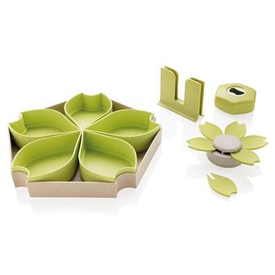 XD COLLECTION Küchenset ECO 4-tlg. aus Weizen, grün
