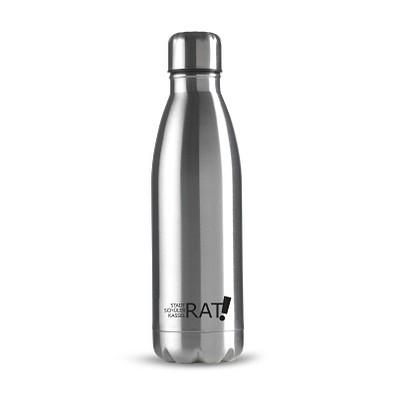 Edelstahl-Trinkflasche Design, 500 ml, silber