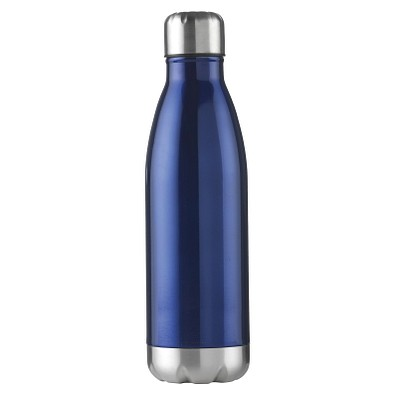 Edelstahl-Trinkflasche Design, 500 ml, blau