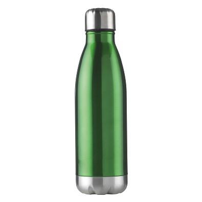 Edelstahl-Trinkflasche Design, 500 ml, grün