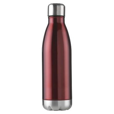 Edelstahl-Trinkflasche Design, 500 ml, rot
