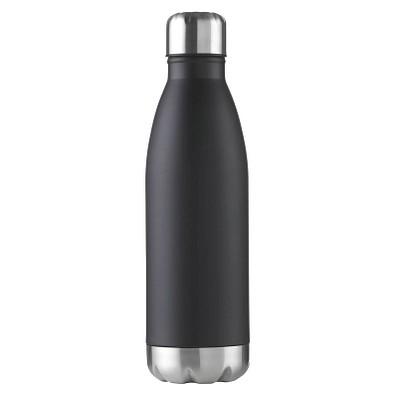 Edelstahl-Trinkflasche Design, 500 ml, schwarz-matt