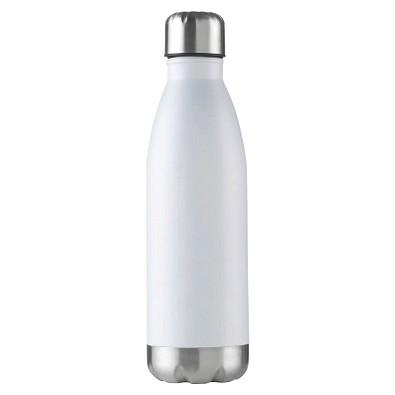 Edelstahl-Trinkflasche Design, 500 ml, weiß-matt