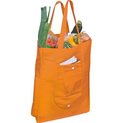 Einkaufstasche, zusammenfaltbar, orange