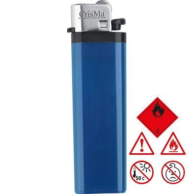 Einweg-Reibrad-Feuerzeug, blau