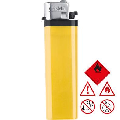 Einweg-Reibrad-Feuerzeug, gelb