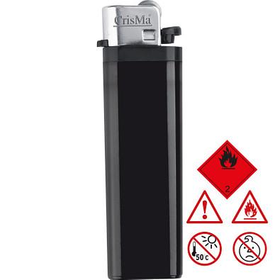 Einweg-Reibrad-Feuerzeug, schwarz
