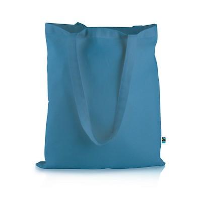 Mister Bags Fairtrade-Baumwolltasche Elsa, cyan