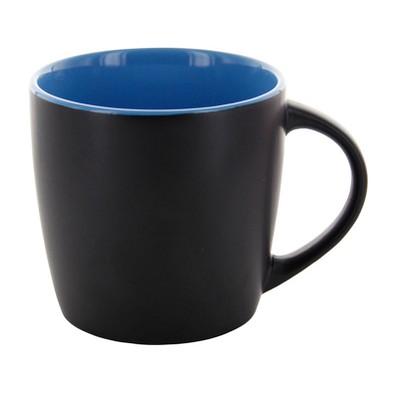 Keramiktasse Emilia, 250 ml, schwarz matt/blau