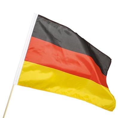 Fahne Holzstab, Deutschland-Farben