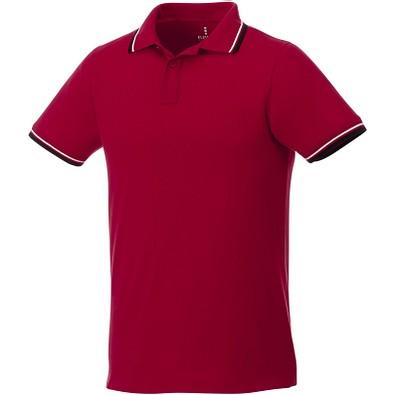 ELEVATE Herren Poloshirt Fairfield mit weißem Rand, rot,dunkelblau,weiss, S