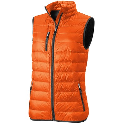 ELEVATE Damen Daunen Weste Bodywarmer Fairview, orange, XL