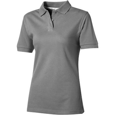 Slazenger™ Damen Poloshirt Forehand, grau, XL