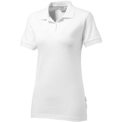 Slazenger™ Damen Poloshirt Forehand, weiß, XL