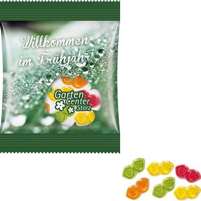 Trolli Fruchtgummi Minitüte 10g, inkl. Druck, Brille, kompostierbare Folie, transparent