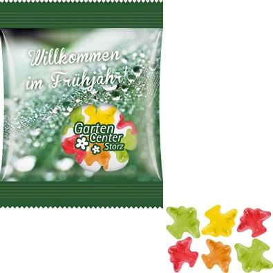 Trolli Fruchtgummi Minitüte 10g, inkl. Druck, Flugzeug, kompostierbare Folie, transparent