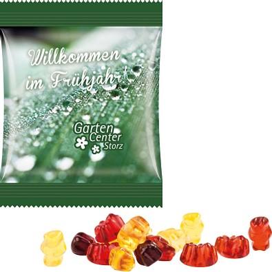 Trolli Fruchtgummi Minitüte 10g, inkl. Druck, Sonderform, kompostierbare Folie, transparent