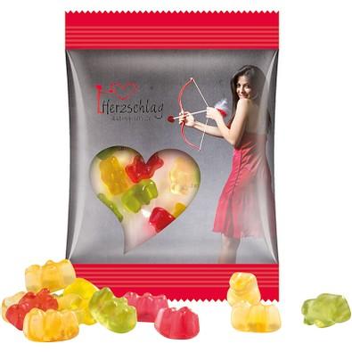 Trolli Fruchtgummi Minitüte 10g, Premium Bärchen, inkl. Druck, transparente Folie