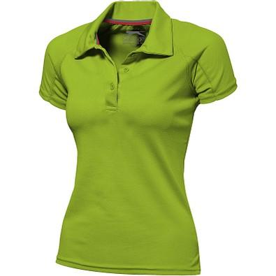 Slazenger™ Damen Poloshirt Game Sport cool fit, apfelgrün, L