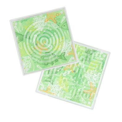 Geduldspiel Duo-Labyrinth, transparent
