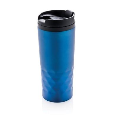 XD COLLECTION Geometrischer Becher, 300 ml, blau