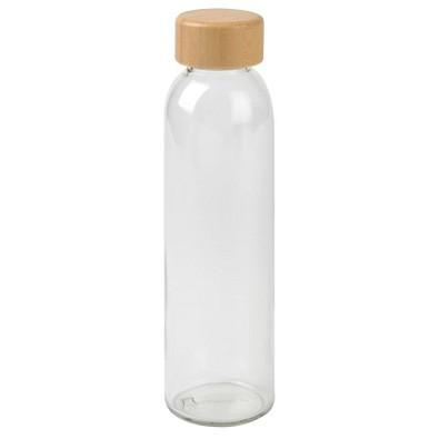 Glas-Flasche Deeply, 500 ml, transparent,braun