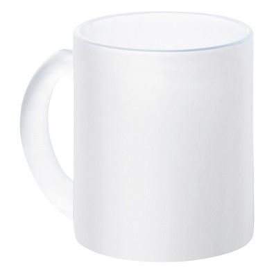 Glas-Kaffeetasse, 300 ml, weiß