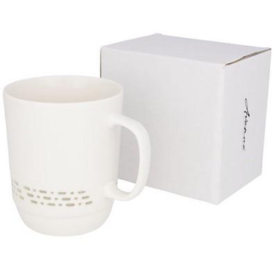 Glimpse durchsichtige Keramiktasse, 470 ml, weiß
