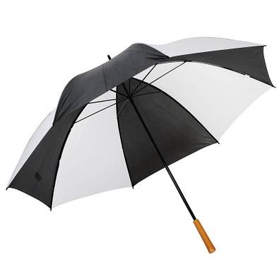 Golfschirm Raindrops, weiß-schwarz