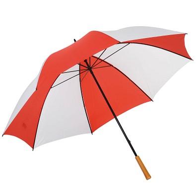 Golfschirm Raindrops, weiß-rot