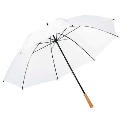 Golfschirm Raindrops, weiß