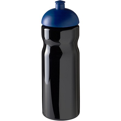 H2O Base Sportflasche mit Stülpdeckel, 650 ml, schwarz,blau