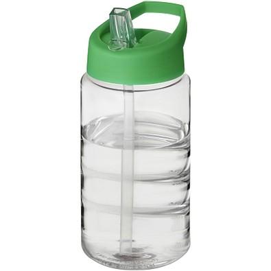 H2O Bop Sportflasche mit Ausgussdeckel, 500 ml, transparent,grün