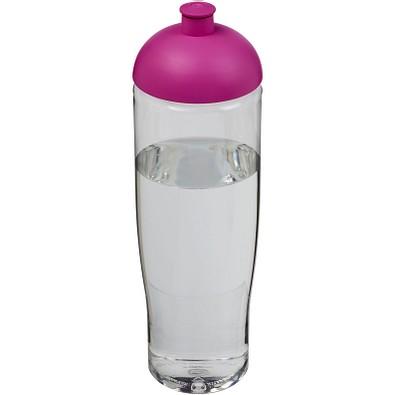 H2O Tempo Sportflasche mit Stülpdeckel, 700 ml, transparent,rosa