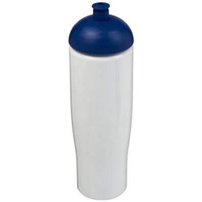 H2O Tempo Sportflasche mit Stülpdeckel, 700 ml, weiss,blau