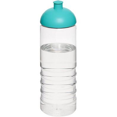 H2O Treble Sportflasche mit Kuppeldeckel, 750 ml, transparent,aquablau