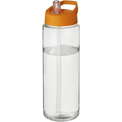H2O Vibe Sportflasche mit Ausgussdeckel, 850 ml, transparent,orange