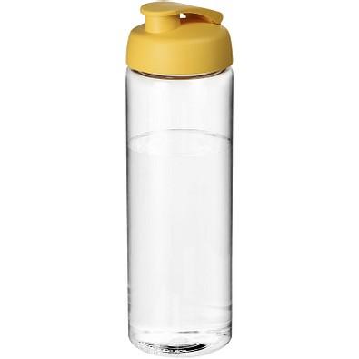 H2O Vibe Sportflasche mit Klappdeckel, 850 ml, transparent,gelb
