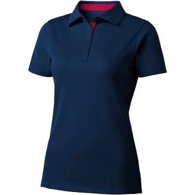 Slazenger™ Damen Poloshirt Hacker, dunkelblau,rot, M