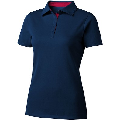 Slazenger™ Damen Poloshirt Hacker, dunkelblau,rot, XL