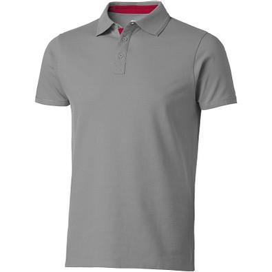 Slazenger™ Herren Poloshirt Hacker, grau,rot, L