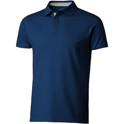 Slazenger™ Herren Poloshirt Hacker, dunkelblau,grau, L