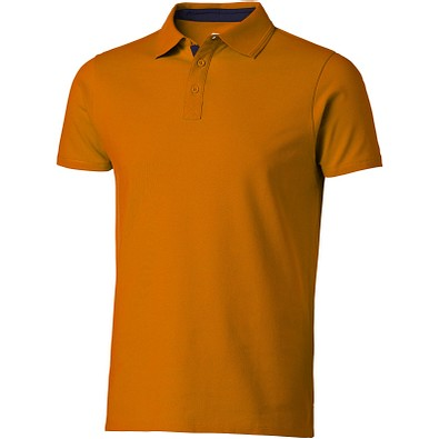 Slazenger™ Herren Poloshirt Hacker, orange,dunkelblau, XXL