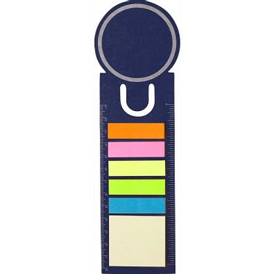 Haftnotiz-Lesezeichen, blau