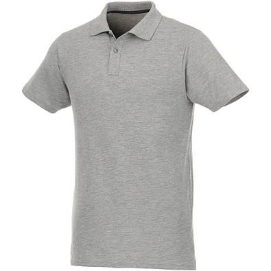 ELEVATE Herren Poloshirt Helios, heather grau, XS