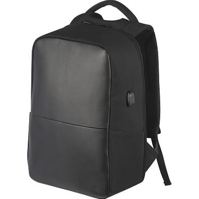 Hochwertiger Rucksack mit USB-Anschluss, schwarz