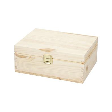 Holzbox Pino, ohne Trennfächer, 21 x 16 cm, klein, natur